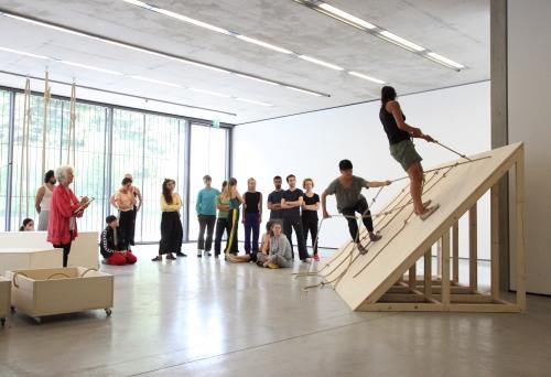 Simone Forti_Performance Probe_Slant Board